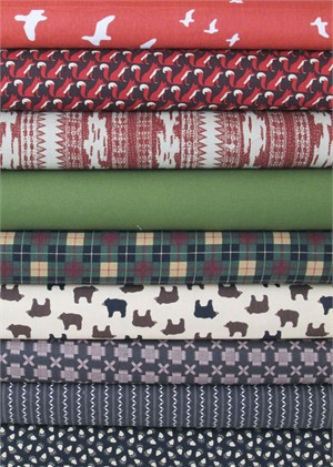 Fabricworm Custom Bundle, Camping Trip in FAT QUARTERS 9 Total