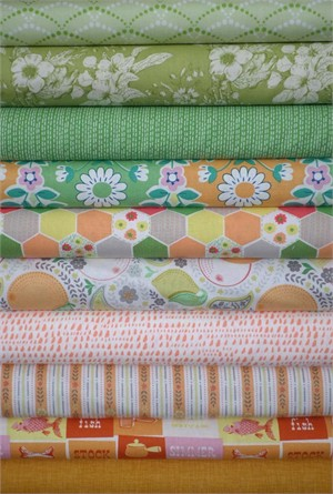 Fabricworm Custom Bundle, Country Farmhouse in FAT QUARTERS 10 Total