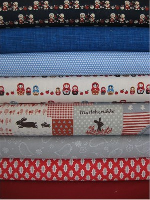 Fabricworm Custom Bundle, Country Momma in FAT QUARTERS, 8 Total