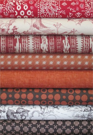 Fabricworm Custom Bundle, Country Twang in FAT QUARTERS 8 Total