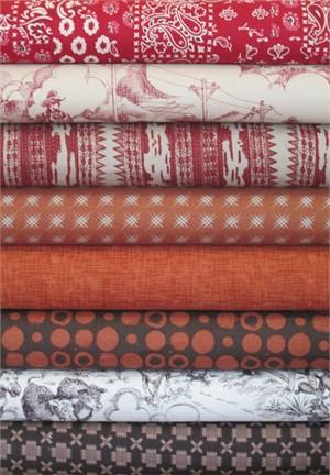 Fabricworm Custom Bundle, Country Twang in FAT QUARTERS 8 Total