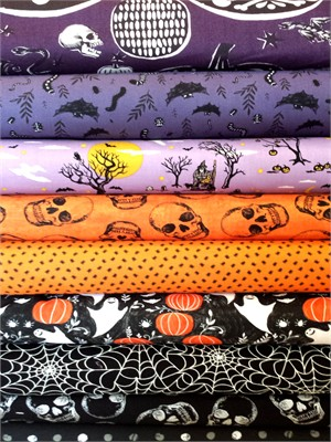 Fabricworm Custom Bundle, Creamsicle in FAT QUARTERS 9 Total (PRE-CUT)