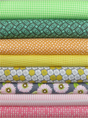 Fabricworm Custom Bundle, Days of Spring in FAT QUARTERS 8 Total