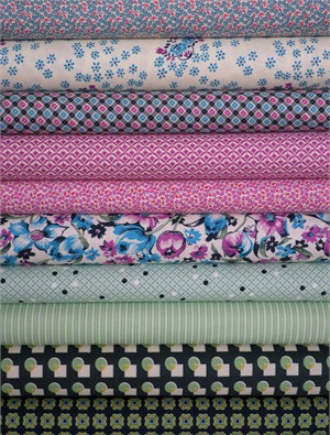 Fabricworm Custom Bundle, Denyse Schmidt Sampler in FAT QUARTERS 10 Total