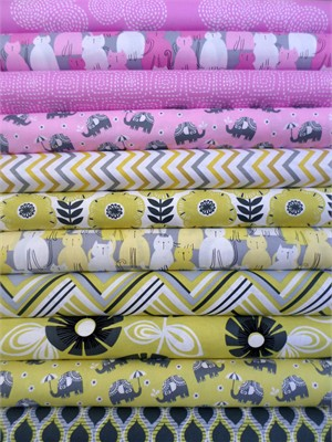 Fabricworm Custom Bundle, Dream Team in FAT QUARTERS 11 Total