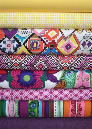 Fabricworm Custom Bundle, En Memorias Bright in FAT QUARTERS 8 Total