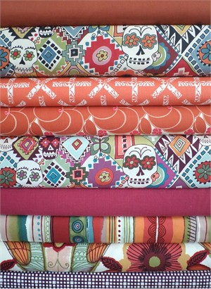 Fabricworm Custom Bundle, En Memorias Natural in FAT QUARTERS 9 Total