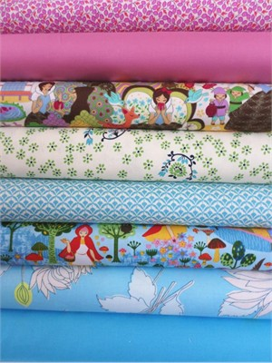 Fabricworm Custom Bundle, Enchanted Woods, in Fat Quarters, 8 Total