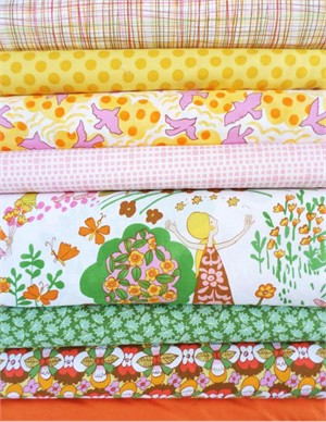 Fabricworm Custom Bundle, Everyday Eden Citrus in FAT QUARTERS 8 Total