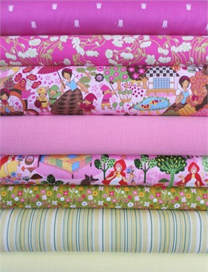 Fabricworm Custom Bundle, Fairytale Forest in FAT QUARTERS 8 Total (Pre-cut)