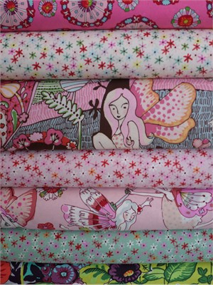 Fabricworm Custom Bundle, Fairyworld in FAT QUARTERS 7 Total(Pre-cut)