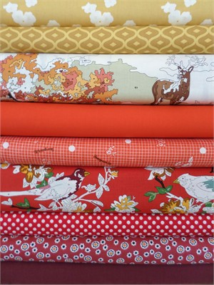 Fabricworm Custom Bundle, Fall Painting in FAT QUARTERS 9 Total