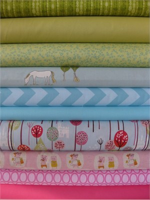 Fabricworm Custom Bundle, Far Far Away in FAT QUARTERS, 10 Total