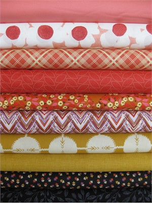 Fabricworm Custom Bundle, Fall Spice in FAT QUARTERS, 10 Total
