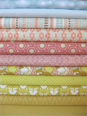 Fabricworm Custom Bundle, Foxy Day Out in FAT QUARTERS 11 Total