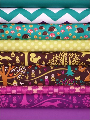 Fabricworm Custom Bundle, Foxtrot in FAT QUARTERS 9 Total