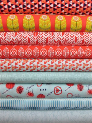 Fabricworm Custom Bundle, Fresh Freeze in FAT QUARTERS 9 Total