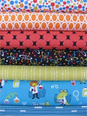 Fabricworm Custom Bundle, Fun in the Lab in FAT QUARTERS, 7 Total