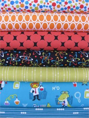 Fabricworm Custom Bundle, Fun in the Lab in FAT QUARTERS, 7 Total