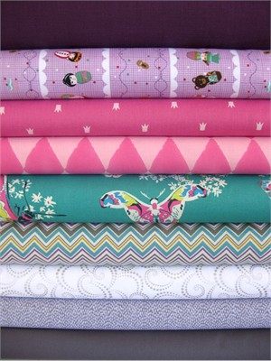 Fabricworm Custom Bundle, Garden Playtime in FAT QUARTERS 9 Total