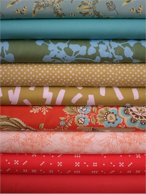 Fabricworm Custom Bundle, Garden Sunset in FAT QUARTERS 9 Total