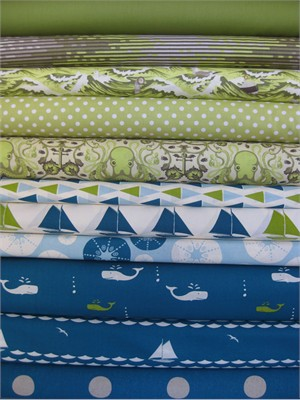 Fabricworm Custom Bundle, Glass Bottom Tour in FAT QUARTERS, 11 Total