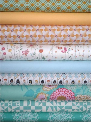 Fabricworm Custom Bundle, Golden Years in FAT QUARTERS 9 Total