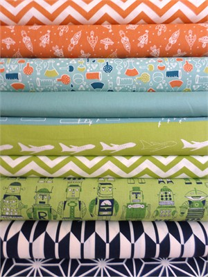 Fabricworm Custom Bundle, Grandiose Dreams in FAT QUARTERS 9 Total