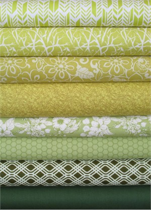 Fabricworm Custom Bundle, Greener Pastures in FAT QUARTERS 8 Total