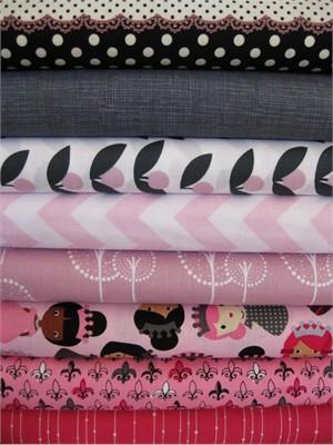 Fabricworm Custom Bundle, Her Magesty in FAT QUARTERS, 8 Total