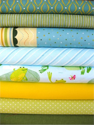 Fabricworm Custom Bundle, Hop To It! in FAT QUARTERS, 8 Total