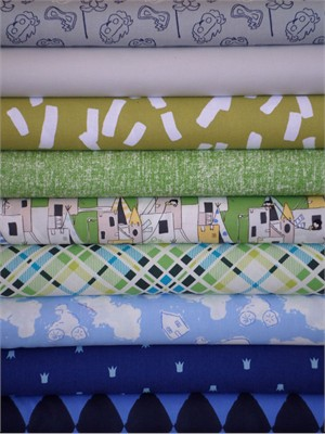 Fabricworm Custom Bundle, I Just Can't Wait to be King in FAT QUARTERS 9 Total