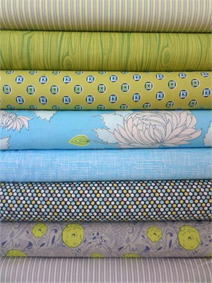 Fabricworm Custom Bundle, I'm Pond of You in FAT QUARTERS 8 Total