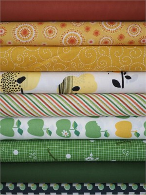 Fabricworm Custom Bundle, In the Orchard in FAT QUARTERS 9 Total