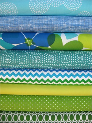 Fabricworm Custom Bundle, Island Oasis in FAT QUARTERS, 8 Total