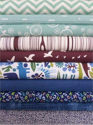 Fabricworm Custom Bundle, Jungle Jamboree in FAT QUARTERS 10 Total