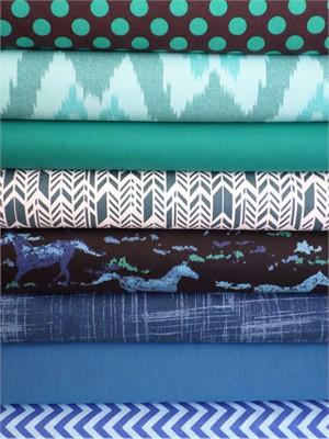 Fabricworm Custom Bundle, Laredo in FAT QUARTERS 8 Total