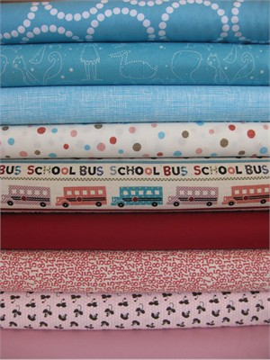 Fabricworm Custom Bundle, Learnin' Time in FAT QUARTERS 9 Total