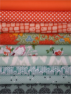 Fabricworm Custom Bundle, Learn to Fly in FAT QUARTERS 8 Total
