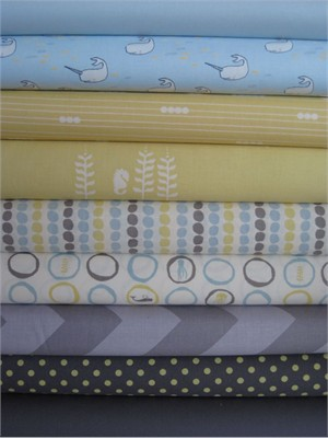 Fabricworm Custom Bundle, Little Bubbles in FAT QUARTERS, 9 Total