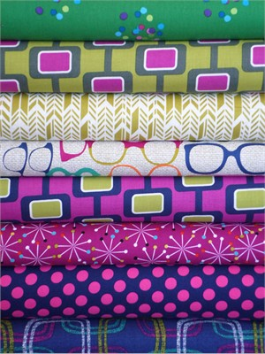 Fabricworm Custom Bundle, Material Girl in FAT QUARTERS 8 Total