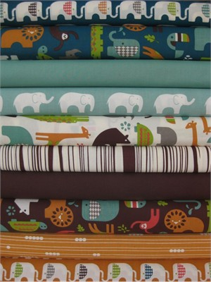 Fabricworm Custom Bundle, Masai Mara Bound in FAT QUARTERS, 10 Total