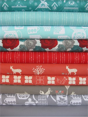 Fabricworm Custom Bundle, Merry Christmas From Belen in FAT QUARTERS 10 Total