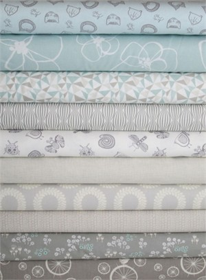 Fabricworm Custom Bundle, Meadow Morning in FAT QUARTERS 10 Total