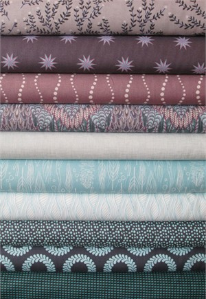 Fabricworm Custom Bundle, Moonstone in FAT QUARTERS 10 Total