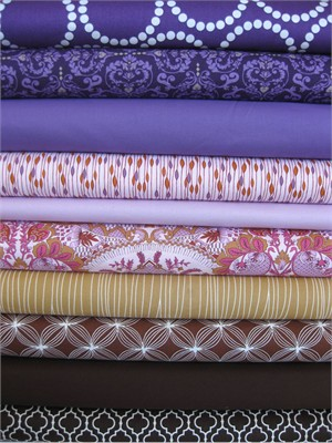Fabricworm Custom Bundle, Modern Romance in FAT QUARTERS, 10 Total