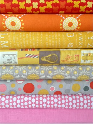 Fabricworm Custom Bundle, New Beginnings in FAT QUARTERS 8 Total