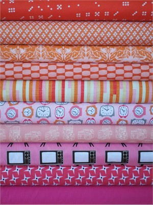 Fabricworm Custom Bundle, The New Girl in FAT QUARTERS 10 Total