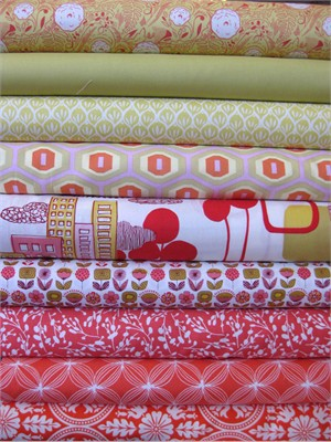 Fabricworm Custom Bundle, Nice Day In The City in FAT QUARTERS 9 Total