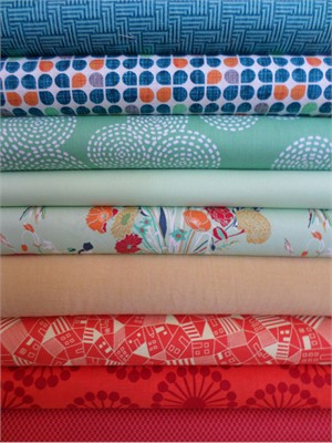 Fabricworm Custom Bundle, Parisian Cafe in FAT QUARTERS 9 Total
